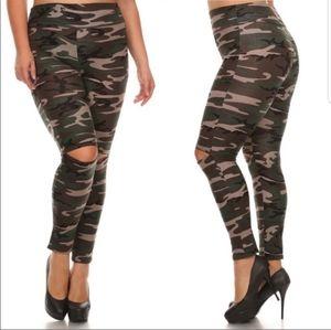 NWT camouflage leggings